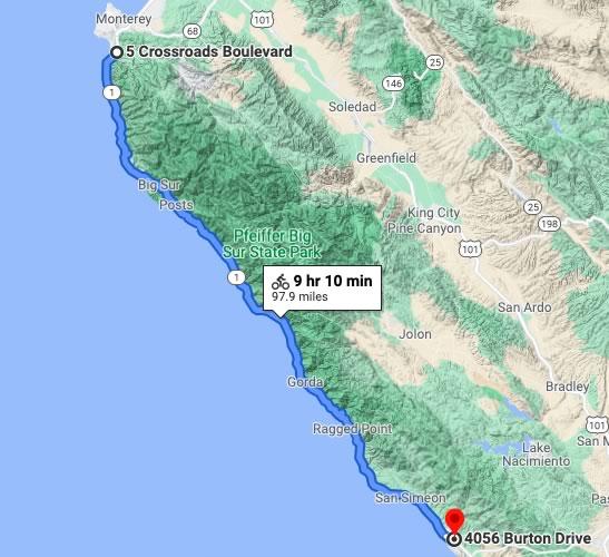 Big Sur to Cambria Ride